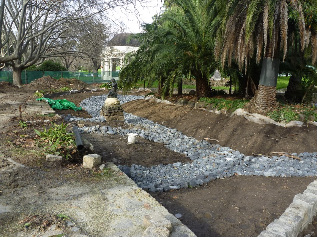 Stormwater harvesting in queen victoria and alexandra for Biofiltration pond