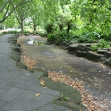 The Children's Pond was drained so that it could be sealed for water storage.