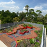 Green roof at the University of Melbourne Burnley Campus