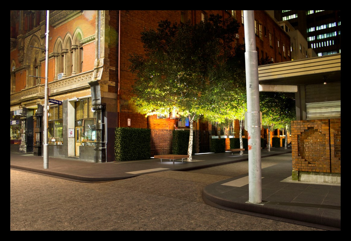 Artists impression of Godfrey Street after establishment