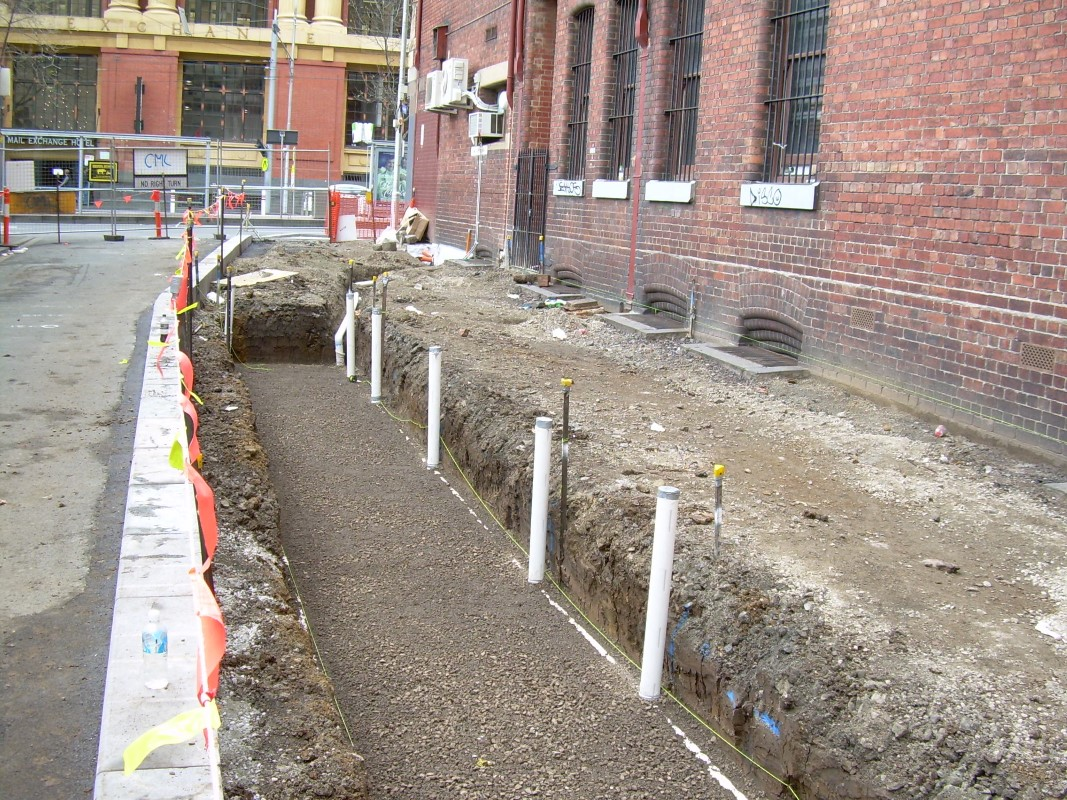 Infiltration Trenches City Of Melbourne Urban Water