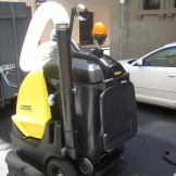 Vacuum machine is used to clean the air void
