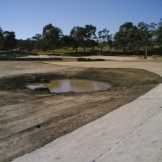 Construction of the treatment wetland