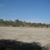 The storage tank site at Ross Straw Field prior to construction